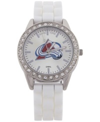 Game Time Women's Colorado Avalanche Frost Watch White