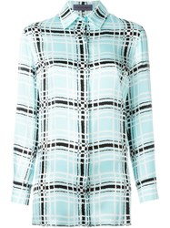 Emanuel Ungaro Checked Print Shirt Blue