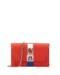 Akris Anouk Superstripe Patchwork Envelope Shoulder Bag Red