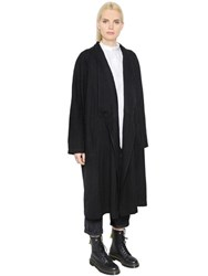 Y's Double Breasted Soft Wool Drill Coat