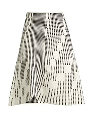 Roland Mouret Wilson Textured Knit Skirt White Black