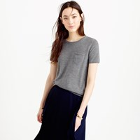 J.Crew Collection Featherweight Cashmere Short Sleeve Pocket T Shirt