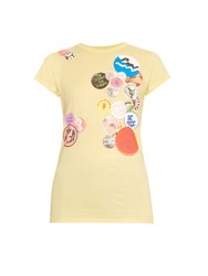 Stella Mccartney Badges Print Cotton Jersey T Shirt