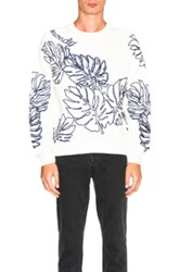 Moncler Crewneck Sweatshirt In White Floral White Floral