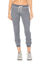 Monrow Burn Out Sweatpants Gray