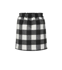 N 21 Checked Wool Blend Miniskirt Multicoloured