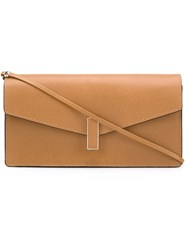 Valextra Flap Clutch Bag Nude And Neutrals