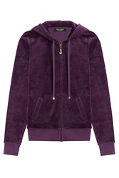Juicy Couture J Bling Velour Hoodie Purple