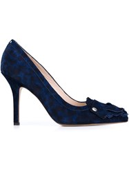 Jerome Dreyfuss Leopard Print Pumps Blue