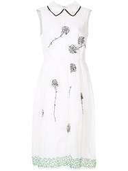 Jupe By Jackie Floral Embroidered Dress White