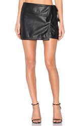N 21 Side Tie Mini Skirt Black