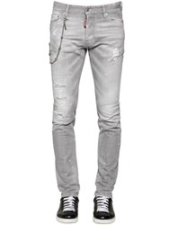 Dsquared 16.5Cm Cool Guy Chained Stretch Denim