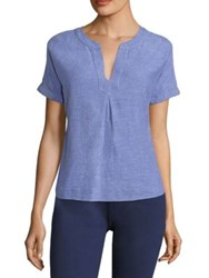 Vineyard Vines Dolman Linen Top Azure Blue