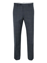 Paul Costelloe Men's Barnet Wool Check Suit Trousers Grey
