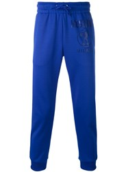 Moschino Printed Jogger Sweatpants Men Cotton Polyester S Blue