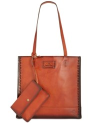 Patricia Nash Burned Leather Toscano Tote Tan