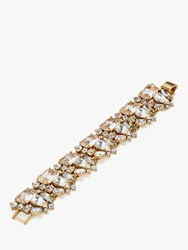 J.Crew Crystal Glass Link Bracelet Clear