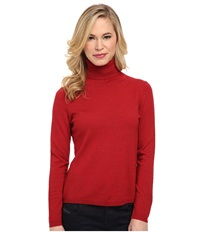 Pendleton Petite Classic Turtleneck Sweater Red Rock Heather Women's Long Sleeve Pullover