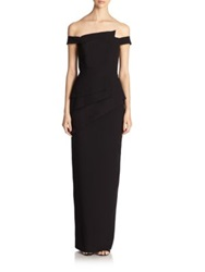 Black Halo La Reina Gown Black