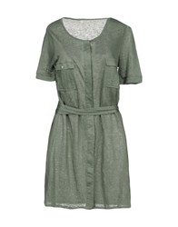 Fine Collection Short Dresses Green