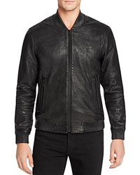 Joe's Jeans Leather Bomber Jacket Black
