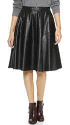 Blank Vegan Leather Skirt Basic B.