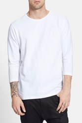 Publish Brand 'Everit' French Terry Three Quarter Sleeve Pullover White