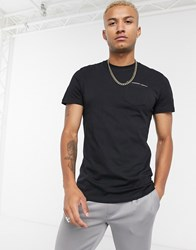 Good For Nothing Muscle T Shirt With Pocket And Micro Taping In Black