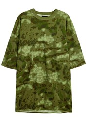 Yeezy Army Green Camouflage Cotton T Shirt Olive