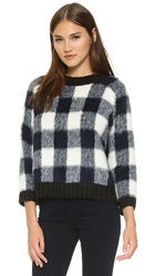 Sea Plaid Pullover Navy