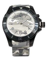 Kyboe Stainless Steel Camo Dial Watch
