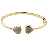 John Lewis Gemstones 18Ct Gold Hinged Semi Precious Stone Bangle Labradorite