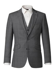 Pierre Cardin Men's James Charcoal Check Jacket Charcoal