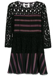 Martha Medeiros Short Lace Dress Black