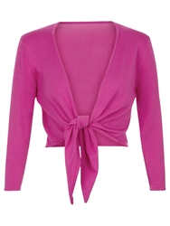 Kaliko Cropped Sleeve Shrug Dark Pink