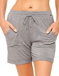 Kensie Basic Boxer Shorts Heather Charcoal