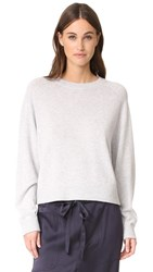 Vince Raglan Sleeve Cashmere Sweater Heather Grey