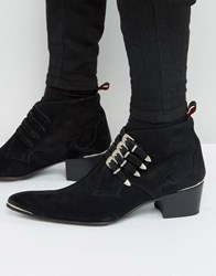 Jeffery West Sylvian Leather Buckle Boots Black