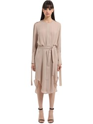 Calvin Klein Double Georgette Trench Dress