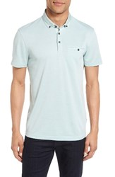 Ted Baker Men's London Woven Collar Polo Mint