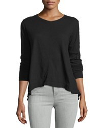 Jethro Long Sleeve Backless Tee Black
