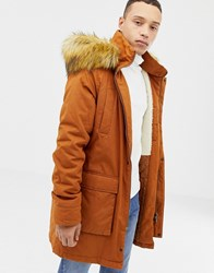 Parka London Long Jacket With Fur Hood Red