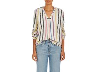 Ace And Jig Women's Orla Striped Cotton Tunic Beige White