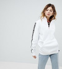Vans Exclusive To Asos Half Zip Pullover In White White