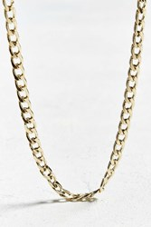 Urban Outfitters Concave Curb Long Chain Gold