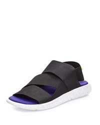 Y 3 Qasa Strappy Slide On Sandal White Black Purple Men's Wht Blk Prp