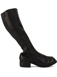 Guidi Tall Zip Front Boots Black
