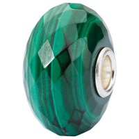 Trollbeads Sterling Silver Malachite Bead Green
