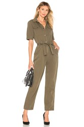 Frame Belted Jumpsuit Army