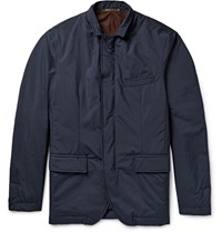 Hackett Mayfair Slim Fit Padded Shell Jacket Blue